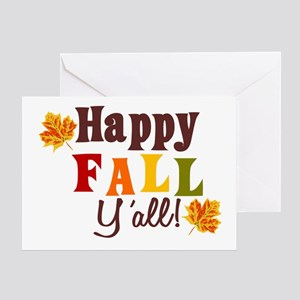 Autumn greeting cards cafepress happy fall yall greeting cards m4hsunfo
