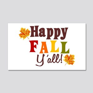 Happy Fall Yall! 20x12 Wall Decal
