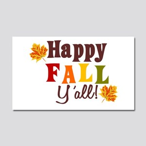 Happy Fall Yall! Car Magnet 20 X 12