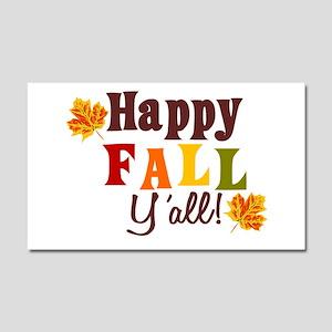 Happy Fall Yall! Car Magnet 20 X 12