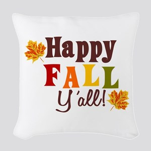Happy Fall Yall! Woven Throw Pillow