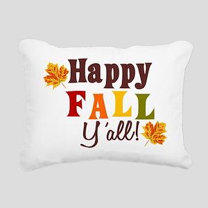 Happy Fall Yall! Rectangular Canvas Pillow