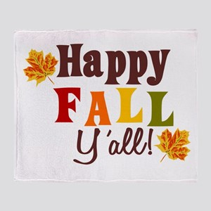 Happy Fall Yall! Throw Blanket