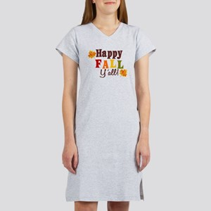 Happy Fall Yall! Women's Nightshirt