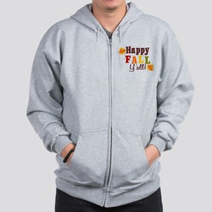 Happy Fall Yall! Zip Hoodie
