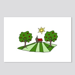 Country Church Religious Tree Scene Postcards (Pac