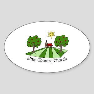 Little Country Church Sticker