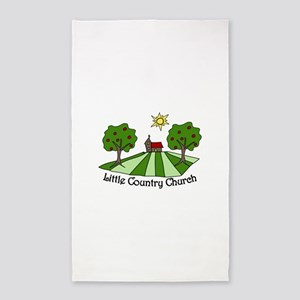 Little Country Church 3'x5' Area Rug