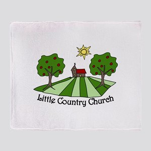 Little Country Church Throw Blanket