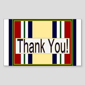Iraq Veteran Thank You Sticker (Rectangle)