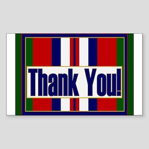 Thank an Afghanistan Veteran Sticker (Rectangle)