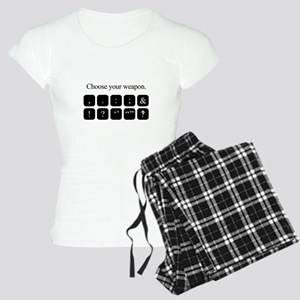 Choose Your Weapon (punctuation) Pajamas