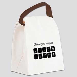 Choose Your Weapon (punctuation) Canvas Lunch Bag