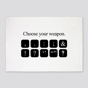 Choose Your Weapon (punctuation) 5'x7'Area Rug