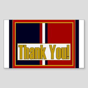 Kosovo Veteran Thank You Sticker (Rectangle)