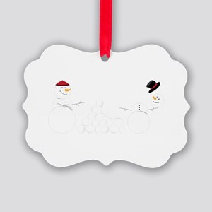 Snowball Fight Ornament