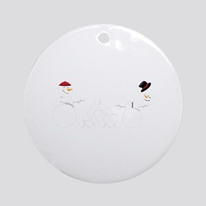 Snowball Fight Ornament (Round)