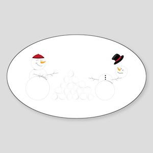 Snowball Fight Sticker