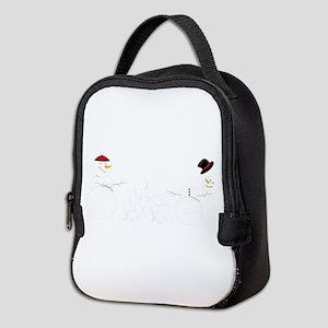 Snowball Fight Neoprene Lunch Bag