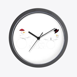Snowball Fight Wall Clock