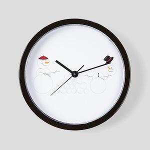 Snowball Fight Wall Clock