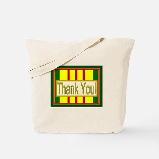 Vietnam Veteran Thank You Tote Bag