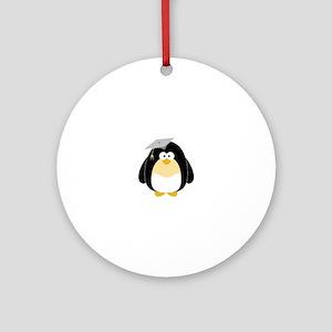 Graduation Penguin Ornament (Round)