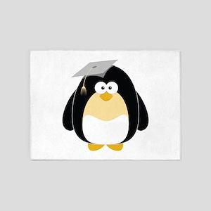 Graduation Penguin 5'x7'Area Rug