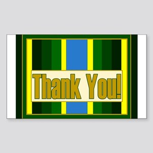 Armed Forces Thank You Sticker (Rectangle)