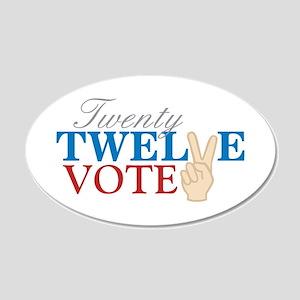 Twenty Twelve Vote Wall Decal