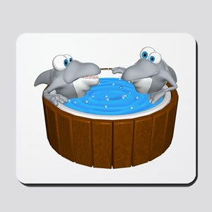 Sharks in a Hot Tub Mousepad