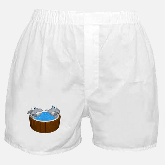 Sharks in a Hot Tub Boxer Shorts