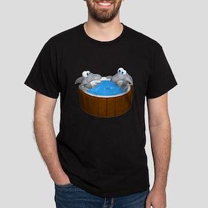 Sharks in a Hot Tub Dark T-Shirt