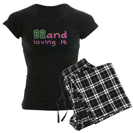 82 And Loving It Birthday De Women's Dark Pajamas
