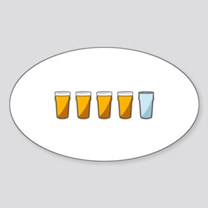4 Beers and 1 Tapwater (Shaun of the Dead) Sticker