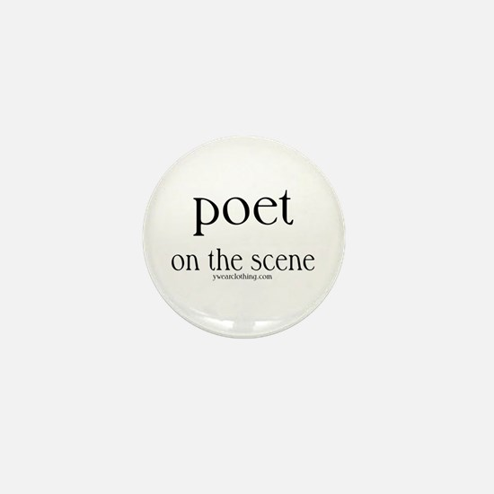 Poet on the Scene Mini Button