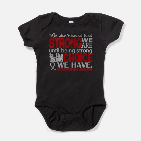 Juv Diabetes How Strong We Are Baby Bodysuit
