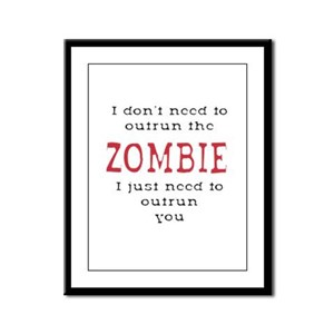 Outrun The Zombie 3 Framed Panel Print