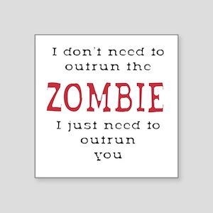 Zombie Run Stickers - CafePress ae2116a6e292f