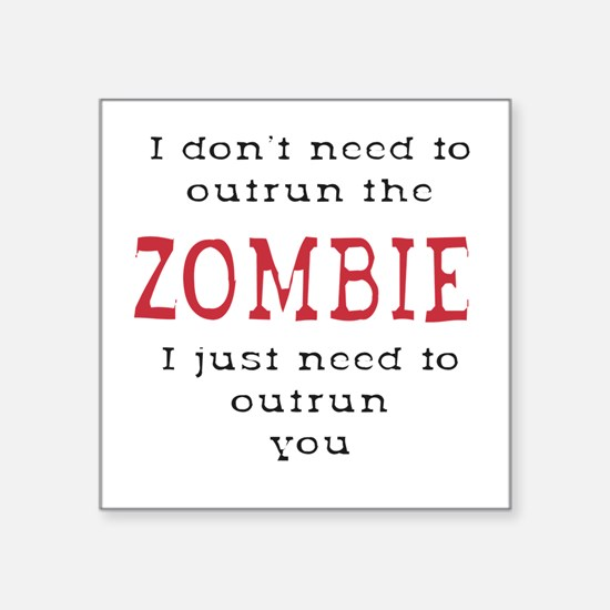 Outrun The Zombie 3 Sticker