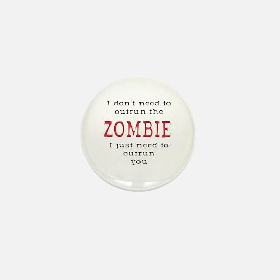 Outrun The Zombie 3 Mini Button
