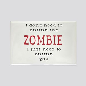 Outrun The Zombie 3 Magnets