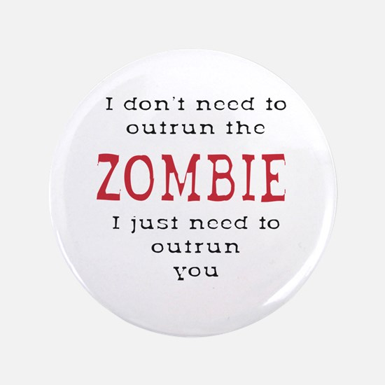 """Outrun The Zombie 3 3.5"""" Button (100 pack)"""