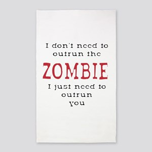 Outrun The Zombie 3 3'x5' Area Rug