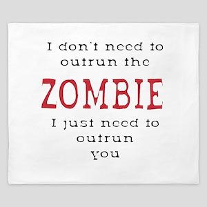 Outrun The Zombie 3 King Duvet