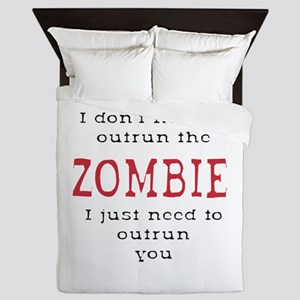 Outrun The Zombie 3 Queen Duvet