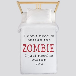 Outrun The Zombie 3 Twin Duvet