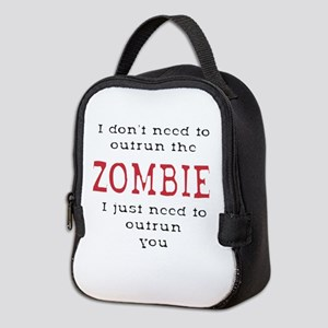 Outrun The Zombie 3 Neoprene Lunch Bag