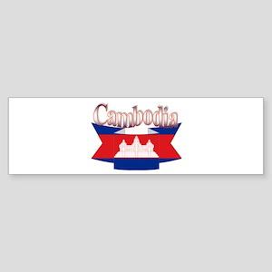 Cambodian flag ribbon Bumper Sticker