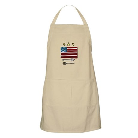 American Flag farming Spade Rake Apron